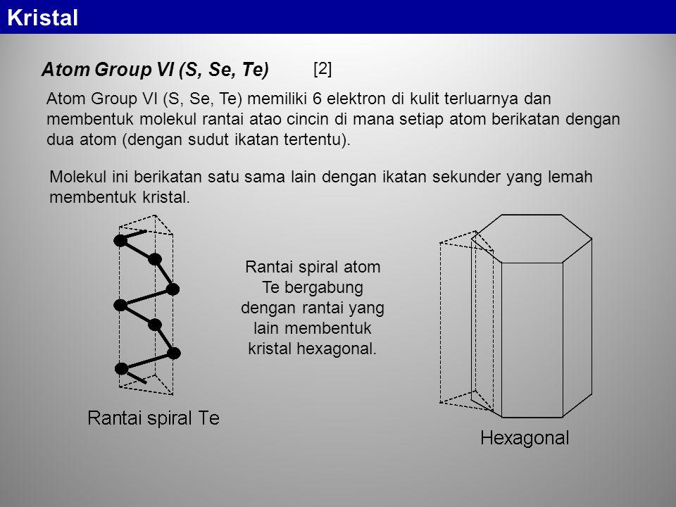Kristal Atom Group VI (S, Se, Te) [2]